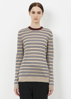 Marni old lace long sleeve striped sweater