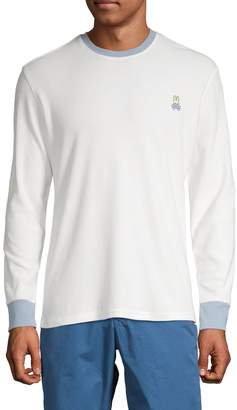 Psycho Bunny Lounge Apex Ribbed Colorblock Long-Sleeve Tee