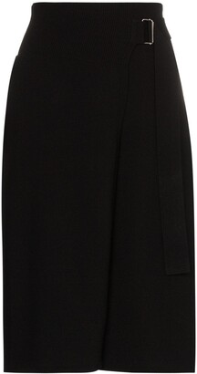 Helmut Lang Knitted Wrap Midi Skirt