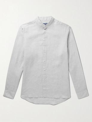 Frescobol Carioca + Johannes Huebl Grandad-Collar Linen Shirt