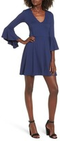 Socialite Women's Bell Sleeve Knit Dress