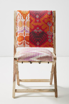 Anthropologie Ikat Medley Terai Folding Chair By in Orange Size ALL