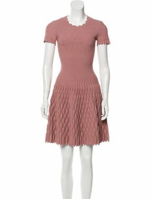 Alaia A-Line Mini Dress Pink