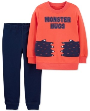 Carter's Baby Boys 2-Pc. Monster Hugs Top & Jogger Pants Set