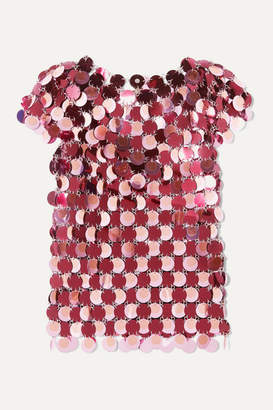 Paco Rabanne Paillette-embellished Chainmail Top - Pink