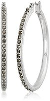 "Kenneth Cole New York City Scape"" Pave Hoop Earrings"