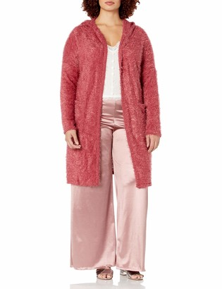 Forever 21 Women's Plus Size Hooded Fuzzy Cardigan