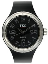 Murano TKO ORLOGI Women's TK530-BS Black and White Collection All Rubber Black Glossy Watch
