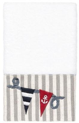 Linum Home Textiles 100% Turkish Cotton Ethan Embellished Hand Towel