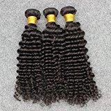 Vinsteen New Arrival Deep Wave Hair Brazilian Hair Extensions 8''-30'' Natural Color 3 Piece 100g/pcs (14 14 14)