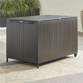 Crate & Barrel Alfresco Grey Storage Box