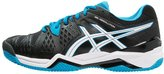 Asics Gelresolution 6 Clay Outdoor Tennis Shoes Black/blue Jewel/white