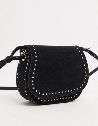 And other stories & cross body saddle bag in black