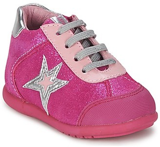 Agatha Ruiz De La Prada BABY BOWLING LACE girls's Shoes (High-top Trainers) in Pink