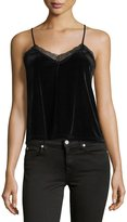 Willow & Clay Velvet Lace-Trim Camisole