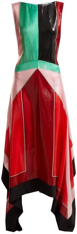 Diane von Furstenberg Contrast-panel silk-blend dress
