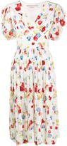 Ermanno Scervino floral print pleated dress