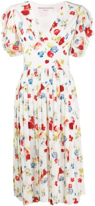 Ermanno Scervino floral print pleated dress