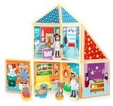 Girl's Build And Imagine Pet Portrait Studio 63-Piece Magnetic Dollhouse