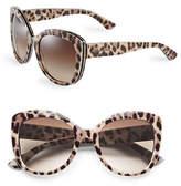 Dolce & Gabbana Leopard 53mm Butterfly Sunglasses