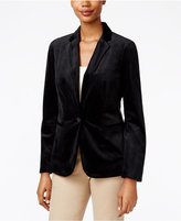 Charter Club Petite Velvet One-Button Blazer, Only at Macy's