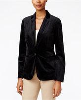 Charter Club Velvet Single-Button Blazer, Only at Macy's