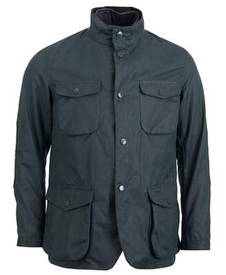 Barbour Ogston Four Pocket Waxed Jacket Colour: NAVY, Size: SMALL