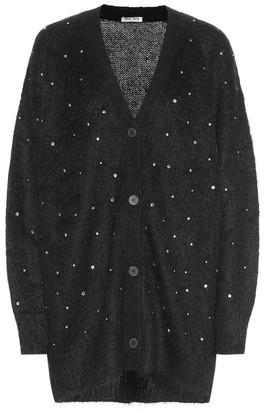 Miu Miu Embellished mohair-blend cardigan