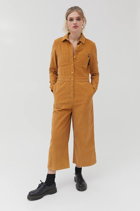 Lazy Oaf Corduroy Button-Front Coverall Jumpsuit