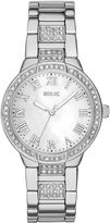 JCPenney RELIC Relic Julia Womens Crystal-Accent Silver-Tone Bracelet Watch ZR34325