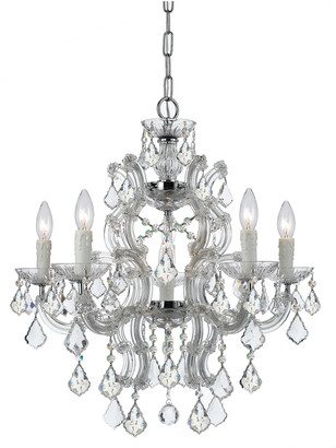 Swarovski Crystorama Maria Theresa 6-Light Crystal Chrome Chandelier