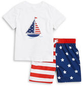 Little Me Baby Boys Baby Boys Nautical Tee and Shorts Set