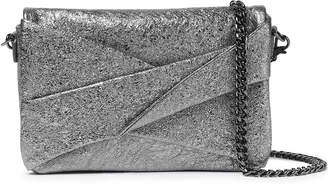 Halston Metallic Crinkled-leather Shoulder Bag