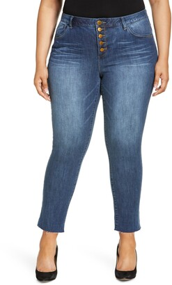 Wit & Wisdom Ab-Solution High Waist Button Fly Crop Jeans