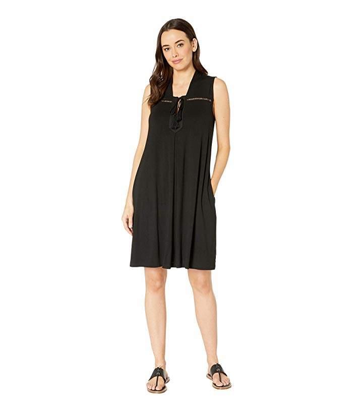 5ae96854a95f Black A Line Dress With Pockets - ShopStyle