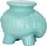 Safavieh Light Blue Ceramic Elephant Stool - Light Blue