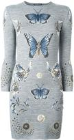 Alexander McQueen butterfly jacquard knit dress