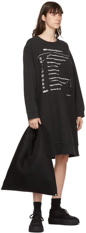 Thumbnail for your product : MM6 MAISON MARGIELA Black Oversized Logo Dress