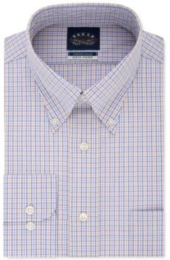 Eagle Men's Slim-Fit Non-Iron Flex Collar Check Dress Shirt