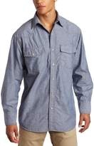 Key Apparel Men's Big-Tall Long Sleeve Western Snap Pre-Washed Chambray Shirt