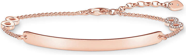 Thomas Sabo Love Bridge Infinity 18ct rose gold-plated diamond bracelet