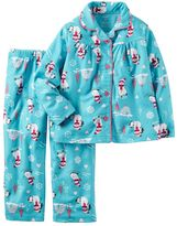 Carter's Toddler Girl Snowman Button-Down Top & Bottoms Pajama Set