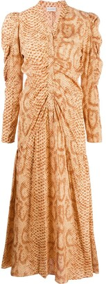 By Malene Birger Cles snakeskin print maxi dress