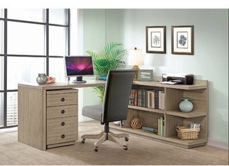 L-Shape Desk Greyleigh Color: Sun-Drenched Acacia