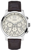 GUESS Croc-Embossed Leather-Strap Chronograph Watch- U0380G2