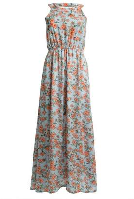 Dorothy Perkins Womens *Tenki Blue Floral Print Maxi Dress, Blue