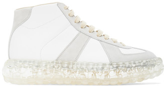 Maison Margiela White Caviar High-Top Sneakers