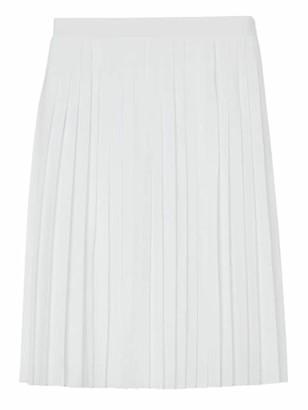 Burberry Pleated Silk Skirt
