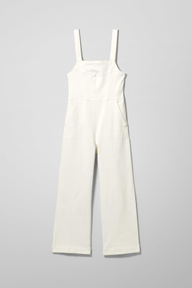 Weekday Junip White Denim Jumpsuit - White