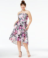 City Chic Trendy Plus Size Gracie Strapless High-Low Dress